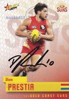Signed Dion Prestia Gold Coast Suns Autograph on 2014 Select Card