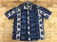 Vtg 60s 70s Ui Maikai Hawaiian Shirt Mens Medium Aloha Floral Tiki Camp Resort