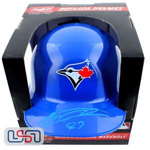 Vladimir Guerrero Jr. Signed Autographed Blue Jays Mini Batting Helmet JSA Auth