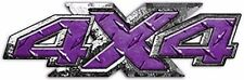 "4x4 Truck Decals Big Dog Custom Style in Diamond Plate Purple 14"" REFLECTIVE 026"
