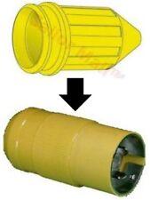 MARINCO Yellow Watertight PVC Cap for Female Dock Side Plug