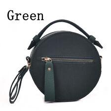 Damen Mode Scrub Leder Rund Freizeit Mini Kuriertasche Handtasche Schultertasche