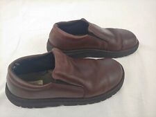 Cherokee Boat Shoes Mens Size 12M Brown Leather Slip on  Leather Loafers