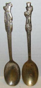 Kellogg's Yogi Bear & Huckleberry Hound Silver Plate Spoons Cereal Premiums