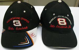 Set of Dale Earnhardt (#3) & Dale Earnhardt Jr. (#8) NASCAR Racing Champion Caps
