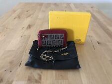 Authentic Fendi Zucca Zip Around Compact Wallet