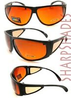 Retro BLUE BLOCKER Amber Wrap Around Vision Sunglasses