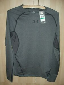 MENS/WOMENS UNDER ARMOUR COMPRESSION LONG SLEEVED TEE SHIRT - SIZE LARGE GREY