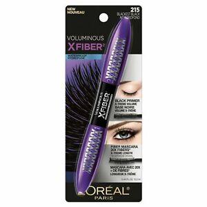L'Oreal Voluminous X-Fiber Mascara ~ 215 Blackest Black ~ Waterproof