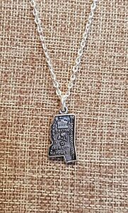 State of Mississippi Charm Necklace I by Local Artist Cynthia Cochran