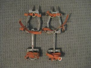 Vintage Salewa DBP 12 Point Adjustable Hinged Crampons-Ice Climbing Gear-GUC