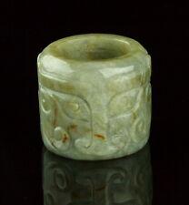 18TH CENTURY CHINESE NEPHRITE JADE ARCHER'S RING