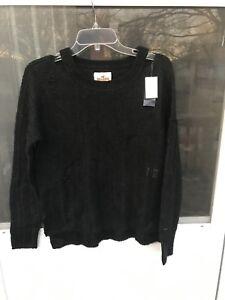 $39.95 Hollister Womens BLACK Sweater Size S CUTE!