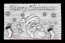 3d Model Stl For Cnc Happy New Year Aspire Merry Christmas Santa Claus D747