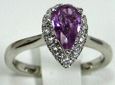 Pink Sapphire Ring 14K white gold Rare Untreated Natural Madagascar App $3,157