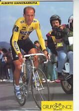 CYCLISME carte  cycliste ALBERTO LEANIZBARRUTIA  équipe ONCE 1993
