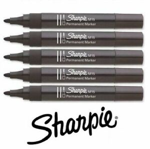 M15 Black Sharpies Permanent Marker Bullet Nib Thick Tip Strong Durable Genuine