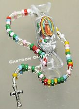 12 X BAPTISM FAVORS ROSARY GIFTS RECUERDOS De Bautizo Guadalupe candy shape