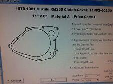 Suzuki RM250  Clutch Cover Gasket 1979 1980 1981