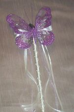 FLOWER GIRL OR BRIDESMAID IVORY AND LILAC BUTTERFLY WAND