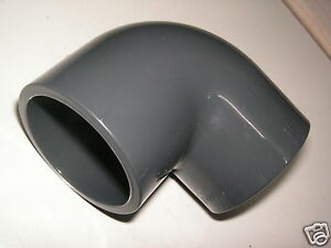 Grey PVC Pressure 90 Degree Elbow Solvent Weld Pond Pipe Fittings
