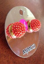 Mimco Brand New Apricot Gold Earrings $59.95 Unique And Stylish .+ Dust Bag