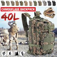 40L Outdoor Military Tactical Bag Camping Hiking Trekking Waterproof Backpack