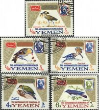 Jemen(Königreich) 148A-152A (kompl.Ausg.) gestempelt 1965 Vögel