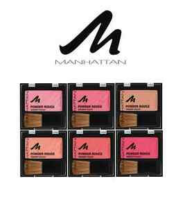 MANHATTAN POWDER ROUGE BLUSHER SHADES OF PINKS **CHOOSE COLOUR** (PACK OF 2)
