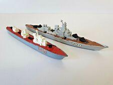Matchbox Sea Kings K302 Corvette & K303 Battleship Diecast Model Ship Bundle '76