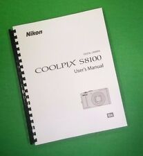 LASER PRINTED Nikon S9100 Manual, User Guide 236 Pages FREE SHIPPING
