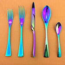 New 20-piece Shiny Rainbow Flatware Cutlery Set 18/10 Stainless Steel Silverware