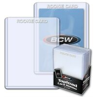 4 packs (100)  BCW 3 X 4 Topload Rookie Card Storage Holders White Letters
