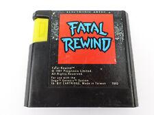 Fatal Rewind SEGA Genesis Game (GENUINE ORIGINAL)