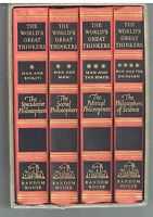 World's Great Thinkers 4 Vol Set 1947 Saxe Commins Rare Vintage Books! $