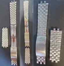 cinturino 19 m maglie fibbia tissot ref. 604 pr 50 strap watch band buckle steel