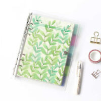 6Pcs/set Index dividers binder spiral PP notebook diary accessory notepads P·o