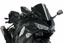 Kawasaki ZX 6 R 600 / 636 Ninja 2013 PUIG Double Bubble Screen Black Racing