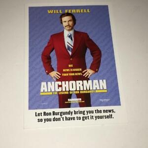 Anchorman Promo Greeting Card Ron Burgundy Will Ferrell Carell Applegate