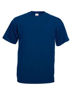 5-10 Stück / Arbeitsshirt Arbeits T-Shirt Arbeitshemd Fruit off the Loom navy