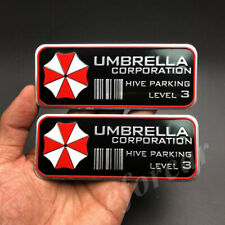 2x Resident Evil Umbrella Corporation Emblem Car Badge Decal Sticker Motorcycle