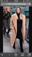 H&M TREND FAUX FUR LONG PILE TEDDY COAT SIZE S bloggers SOLD OUT!!! Small kim k