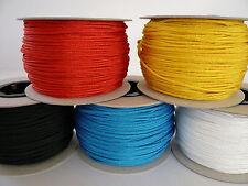 Polyester Seil 1 - 6 mm geflochten PES Flechtschnur Leine Schnur Tauwerk Abspann