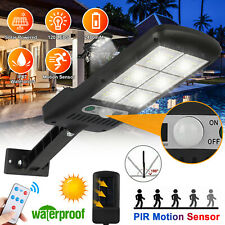 Solar Street Wall Light PIR Motion Sensor LED Lamp Outdoor Garden Remote Control
