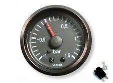 VDO Ladedruckanzeige + BELEUCHTUNG 1.5 BAR für viele Fahrzeuge TURBO KOMPRESSOR