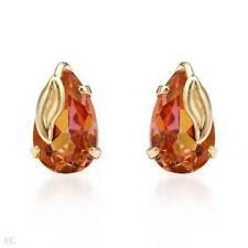 Pear Yellow Gold 14 Carat Fine Earrings