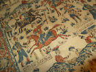 Antique 19th Century Woven Textile Rug Hand Dyed Chovgan Art