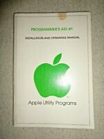 1978 APPLE PROGRAMMER'S AID #1 UTILITY PROGRAMS OPERATING MANUAL Computer ROM