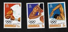 Dominica #478-480 - 21st Olympic Games - 3 Values  MNH