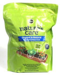 1 Bag Miracle Gro Nature's Care 3 Lb Organic & Natural Raised Bed Plant Food